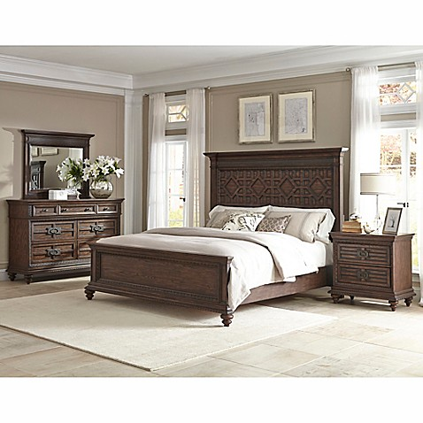 klaussner palencia 4 piece king bedroom set in brown bed bath