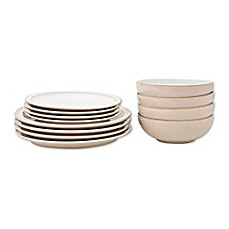 image of Denby Elements 12-Piece Dinnerware Set in Natural