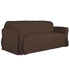 Image Of Perfect Fit Relaxed Cotton Duck Furniture Sofa Slipcover