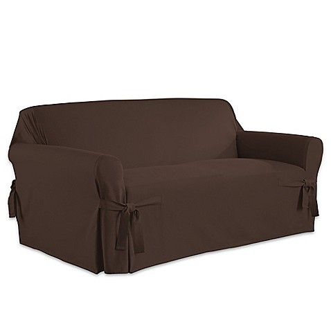 Perfect Fit Relaxed Fit Cotton Duck Loveseat Slipcover Bed Bath Beyond