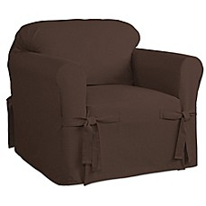 image of Perfect Fit Relaxed Fit Cotton Duck Chair Slipcover