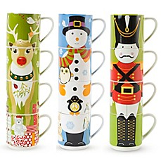 image of Maxwell & Williams™ Stackable Holiday Mugs