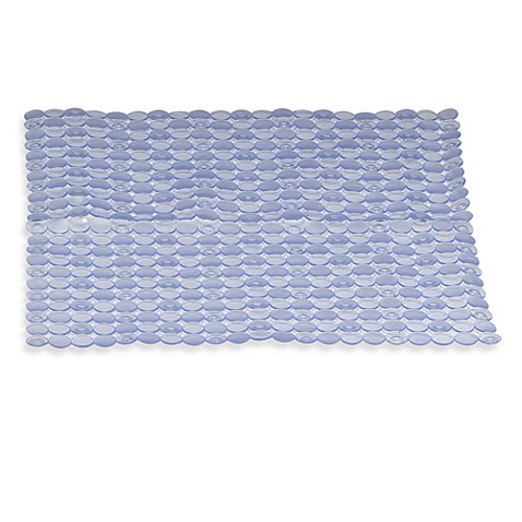 image of interdesign orbz stall shower mat in clear