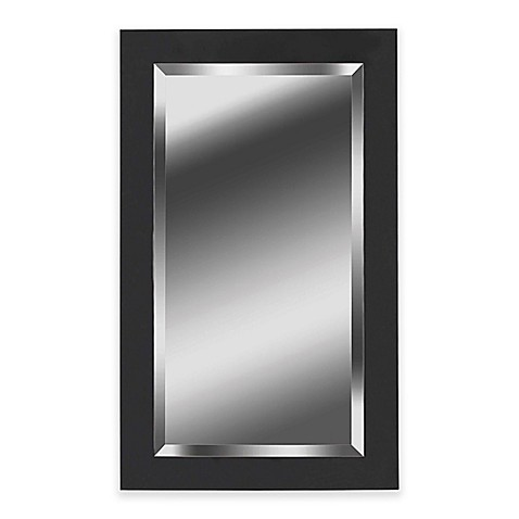 buy kenroy home 24 inch x 40 inch ice mirror in black from bed bath beyond. Black Bedroom Furniture Sets. Home Design Ideas