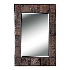 image of Kenroy Home 28-Inch x 38-Inch Bark Birch Mirror