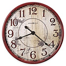 image of Howard Miller Back 40 Wall Clock in Antique Red