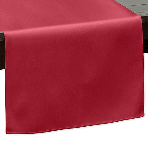 Buy 120 inch indoor outdoor twill table runner in red from for 120 inches table runner