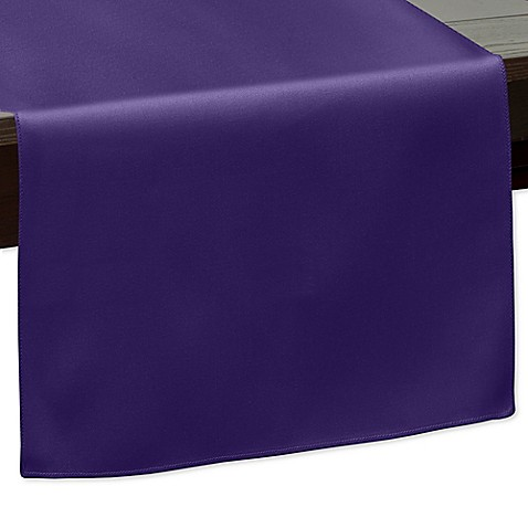 Buy 120 inch indoor outdoor twill table runner in purple for 120 inches table runner