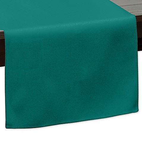 Buy 120 inch indoor outdoor twill table runner in teal for 120 inch table runner