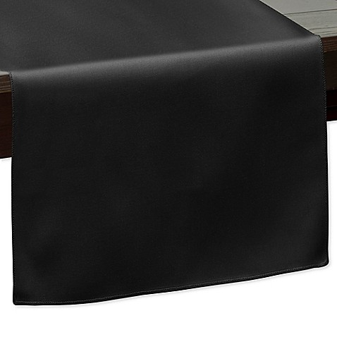 Buy 120 inch indoor outdoor twill table runner in black for 120 inch table