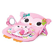image of Kids II™ Prop & Play Tummy Time Owl Mat in Pink