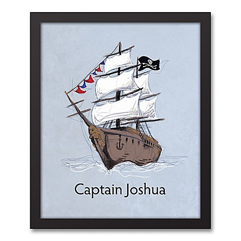 Designs Direct First Mate Pirate Ship Captain 11-Inch x 14-Inch ...