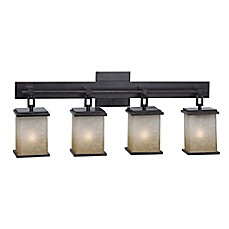 image of Kenroy Home Plateau Bath Sconce in Oil Rubbed Bronze