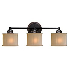 image of Kenroy Home Barney 3-Light Vanity Fixture in Bronze