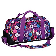 image of wildkin Peace Signs Duffle Bag in Purple