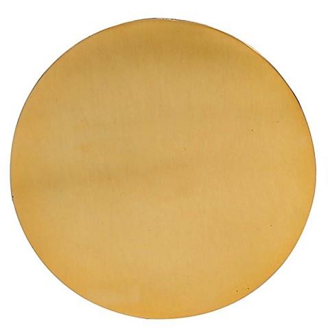 Thirstystone 174 Round Hammered Coaster In Gold Bed Bath
