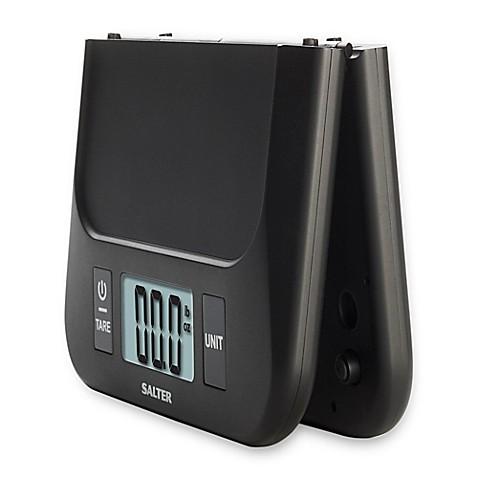 Salter Folding Digital Kitchen Scale In Black