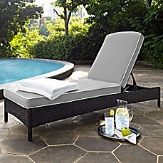 Image Of Crosley Palm Harbor Outdoor Wicker Chaise Lounge With Cushions