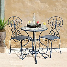 image of Bombay® Outdoor Toulouse 3-Piece Bistro Set in Brown
