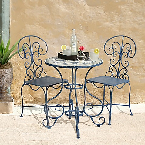 Bombay® Outdoor Toulouse 3-Piece Bistro Set in Brown