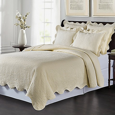 image of Lyon Matelass  Coverlet Set. Quilts  Coverlets and Quilt Sets   Bed Bath   Beyond