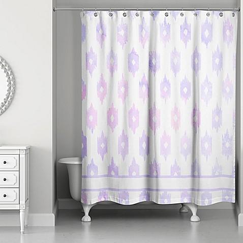 Designs Direct Southwestern Shower Curtain In Blue Bed Bath Beyond