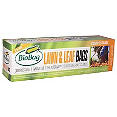 image of BioBag® 10-Count 33-Gallon Lawn & Leaf Compostable Bags