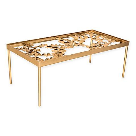 Safavieh Otto Ginkgo Leaf Coffee Table In Antique Gold Leaf Bed Bath Beyond