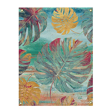 Colorful Organic Leaves All-Weather Canvas Wall Art - Bed Bath & Beyond