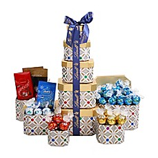 image of Lindt Tower Gift Baskets in Silver/Gold