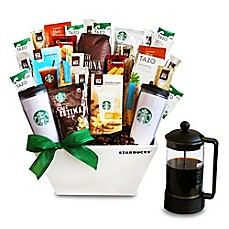 image of California Delicious Ultimate Starbucks Coffee Lover's Gift Basket