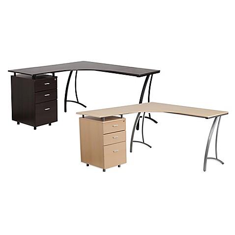 Flash Furniture Laminate L Shape Desk Bed Bath Amp Beyond