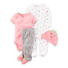 image of carter's® Strawberry Take Me Home Set in Neon Pink