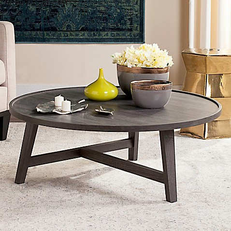 safavieh malone retro mid century wood coffee table bed bath beyond. Black Bedroom Furniture Sets. Home Design Ideas