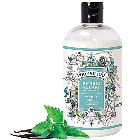 Poo pourri before you go toilet spray in vanilla mint bed bath beyond for Poo pourri before you go bathroom spray