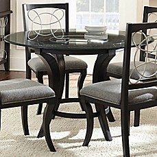 Image Of Steve Silver Co. Cayman Dining Table In Glass/Charcoal