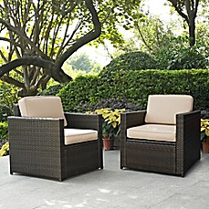 Image Of Crosley Palm Harbor Wicker Arm Chairs (Set Of 2)