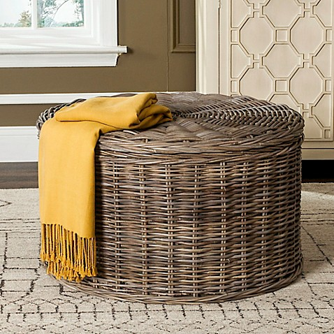 Safavieh Jesse Wicker Storage Coffee Table Bed Bath Beyond