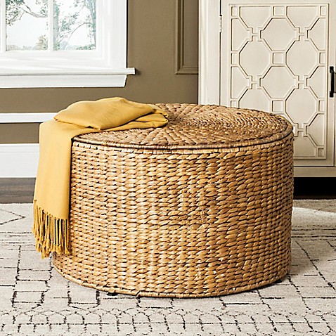 Buy Safavieh Jesse Wicker Storage Coffee Table In Grey From Bed Bath Beyond