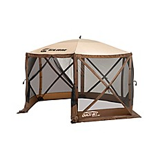 image of Clam Outdoors Quick-Set® Escape™ Extra Large Screen Shelter with Wind Panel Flaps in Brown