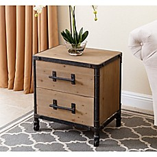Clip on bedside table bed bath beyond abbyson living northwood nightstand in natural watchthetrailerfo