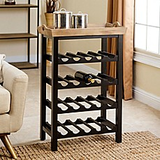 image of Abbyson Living® Peter 4-Tier Wine Rack in Espresso