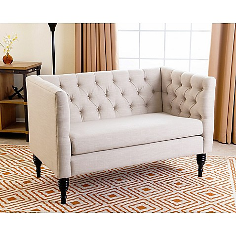 Abbyson Living Marquette Settee In Cream Bed Bath Beyond