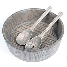 image of Artisanal Kitchen Supply® Salad Serving Set in Grey