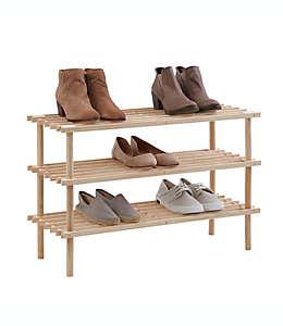 Zapatera de madera SALT™, con 3 niveles