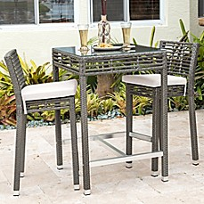 Good Panama Jack® Graphite 3 Piece Outdoor Pub Set In Grey