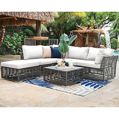 Panama Jack Reg Graphite 6 Piece Outdoor Sectional Set