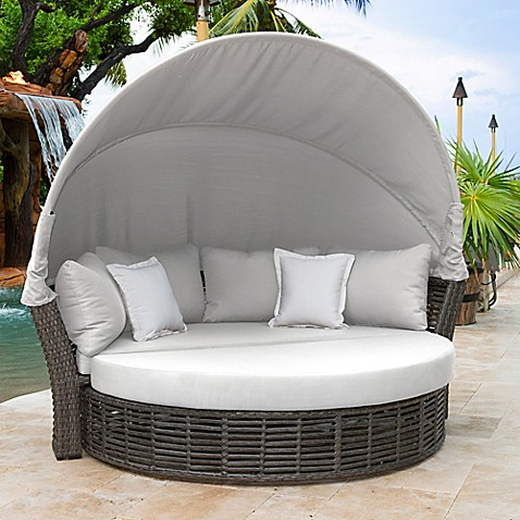 Panama Jacku0026reg; Graphite Outdoor Canopy Daybed ... & Panama Jack® Graphite Outdoor Canopy Daybed in Grey - Bed Bath ...