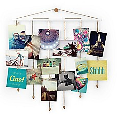 UmbraR Dangle Photo Display Wall Collage In White