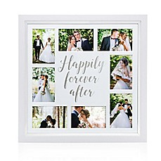 image of Pearhead® Happily Ever After 8-Photo Collage Frame in White